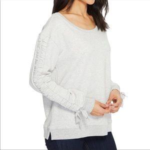 Sanctuary Camden gray rouched sleeve sweatshirt